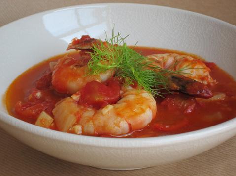 Mario Batalis Shrimp In Crazy Water