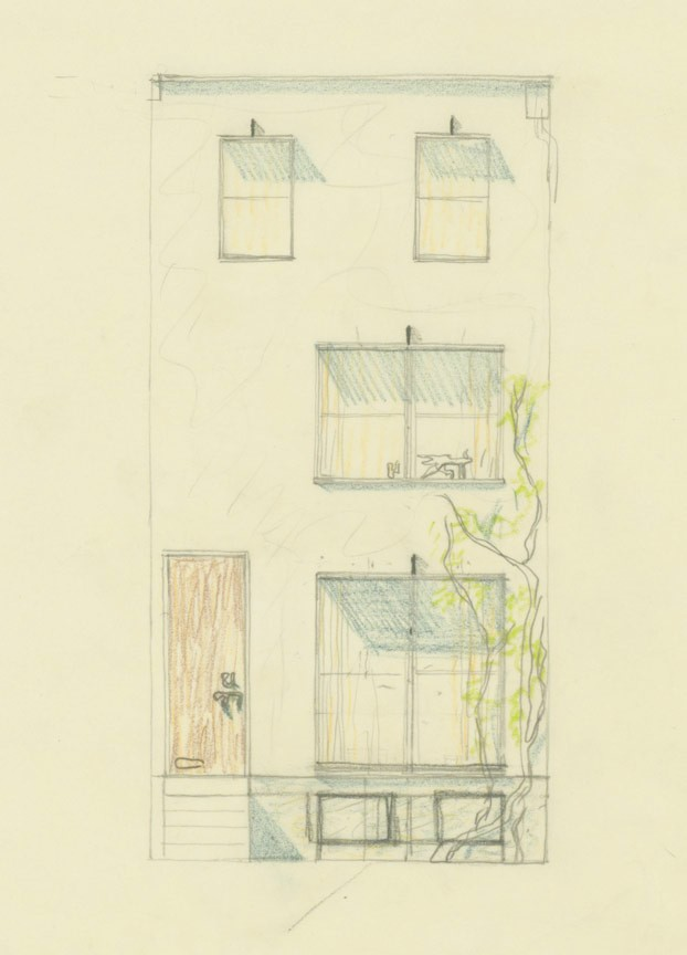 Image: Louis Kahn. Irving Shaw House, Cypress Street (1956-59)                 Credit: The Architectural Archives, University of Pennsylvania