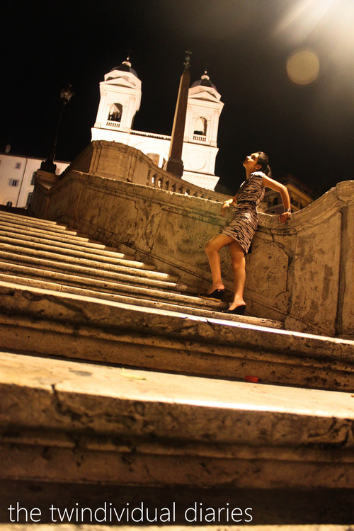 Can't fight the moonlight, at The Spanish Steps