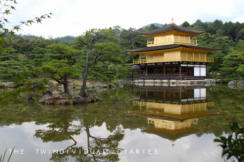 Kinkakuji Temple in Kyoto, gilded in real gold leaf