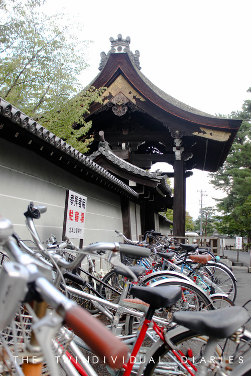 The amount of bicycles everywhere is a reflection of the simple life in Kyoto compared to the cars and taxis of Tokyo
