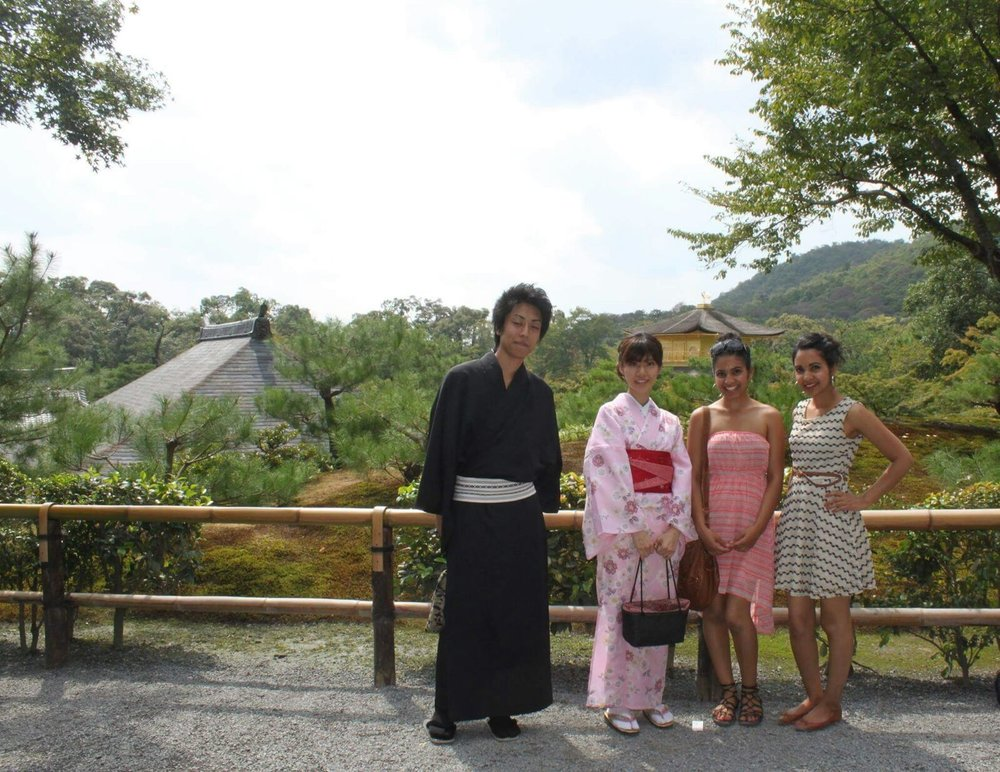 Tranquil Kyoto - This beautiful Japanese couple actually asked  us  to be in their picture!
