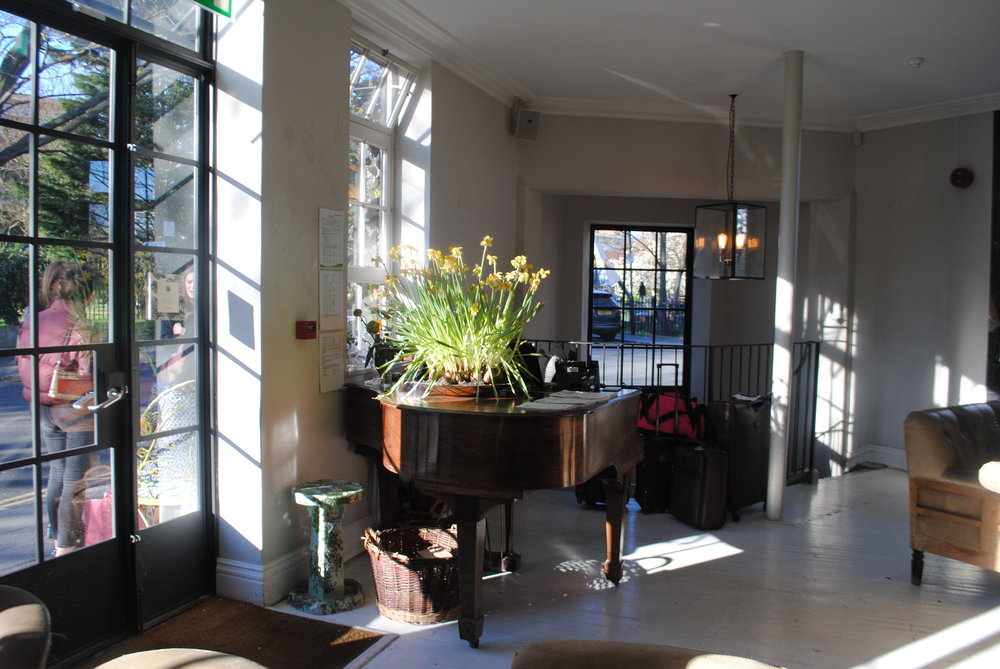 The Piano serves as a Front Desk