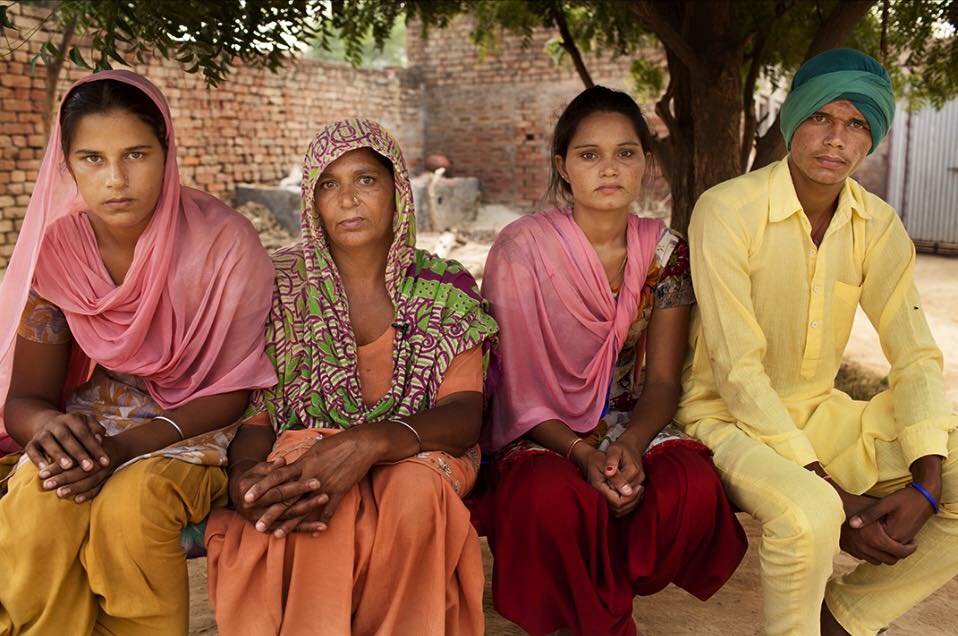 Parmjeet Kaur, Manpreet Kaur, Manjeet Kaur and   Sanser   Singh. The family of a farmer who committed suicide