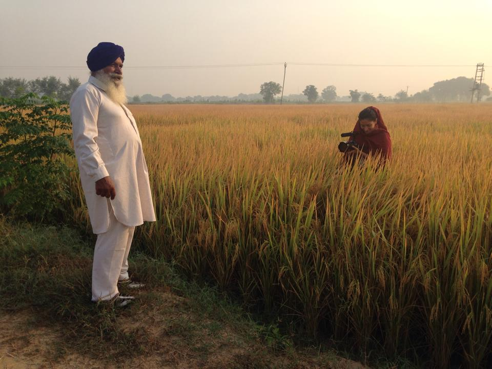 Leva films an interview with farmer Balbir Singh