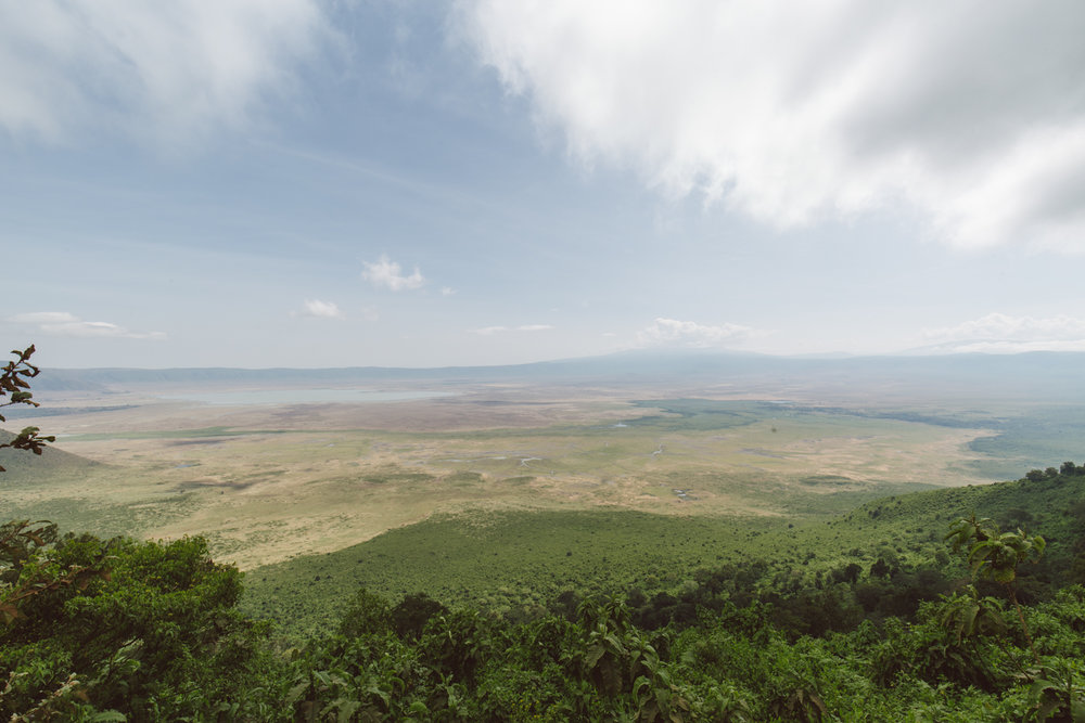 Views of the crater from the lodge