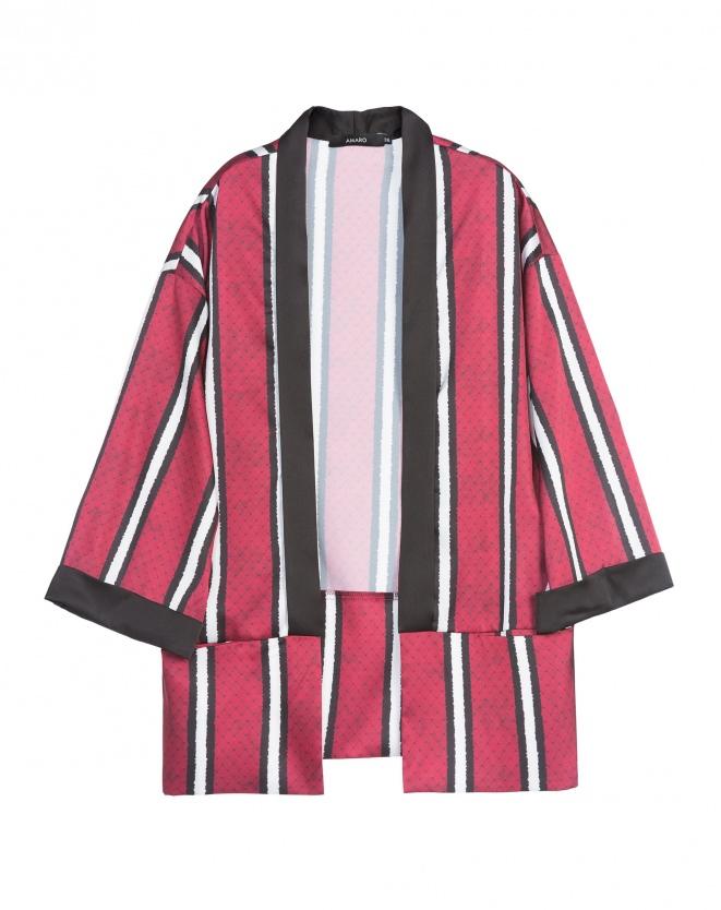 Kimono Cetim Desert, estampa Snake