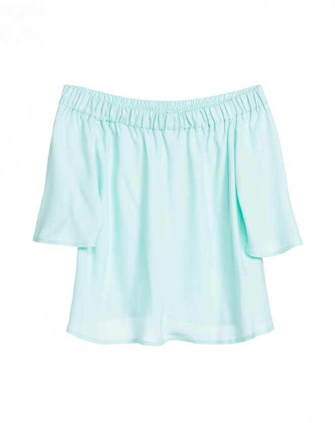 Blusa Ombro a Ombro Viscose, R$ 119,90