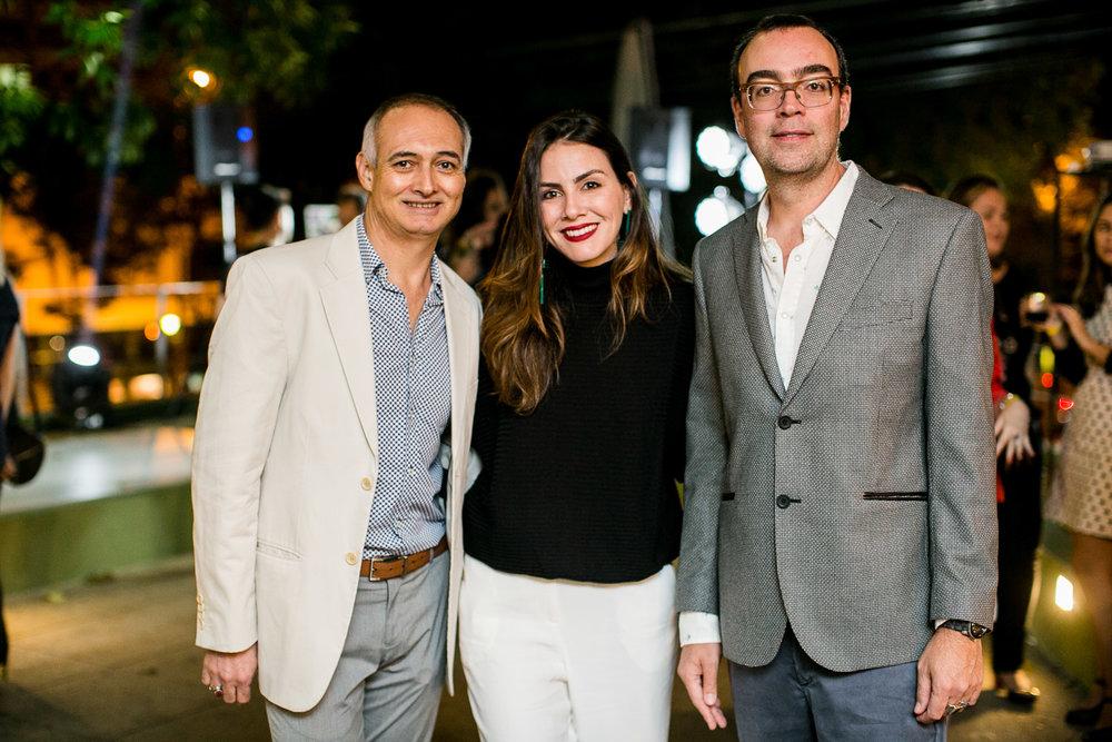 Emi Vieira, Camila Assreuy e Rogerio Reis -Foto:Barbara Dutra