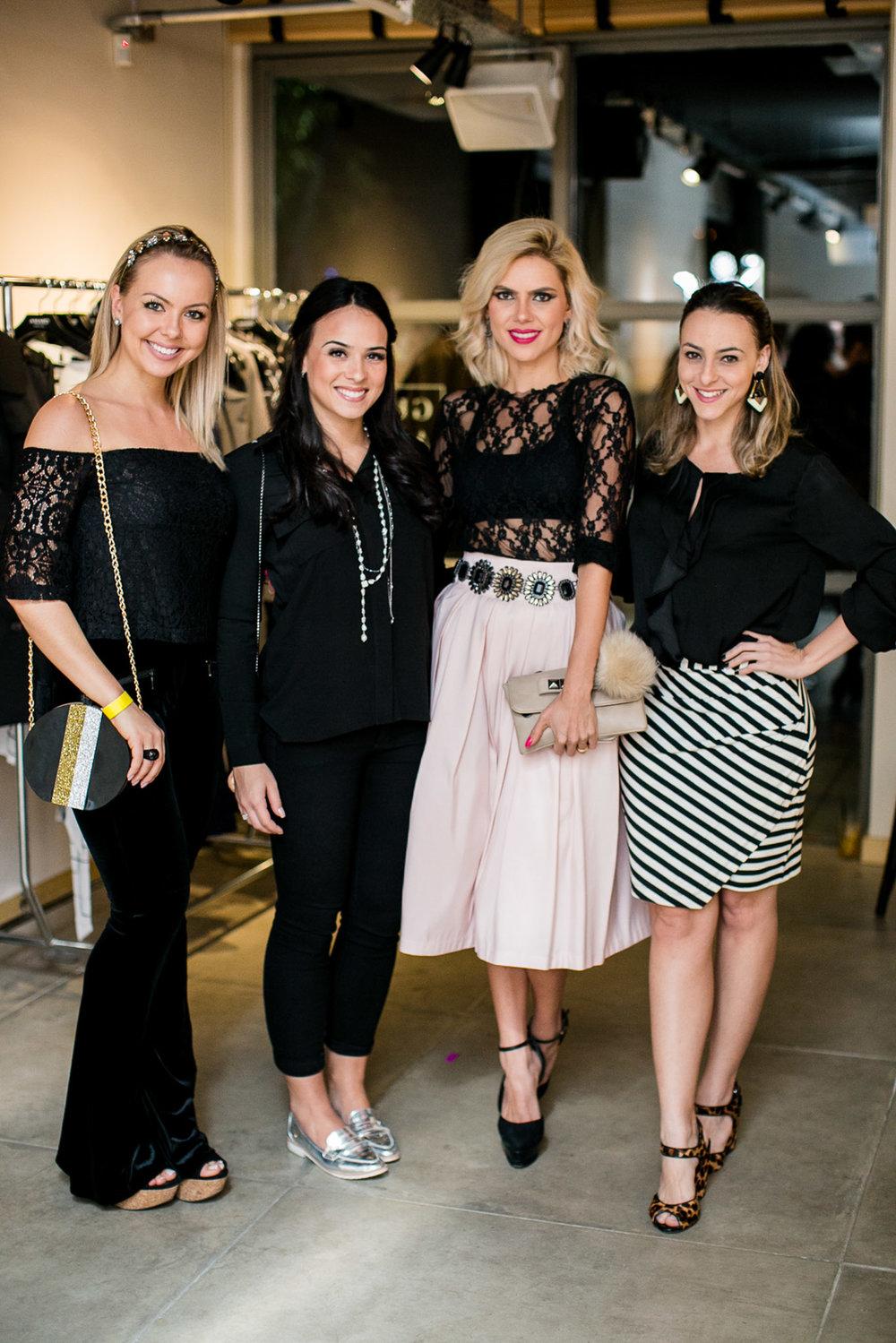 Ludmila Rangel, Livia Giovanardi, Debora Nogueira e Fabíola Paiva- Foto:Barbara Dutra