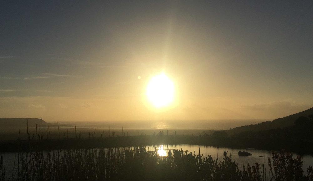 O pôr do sol em Cape Point Vineyards - Foto: Arquivo pessoal