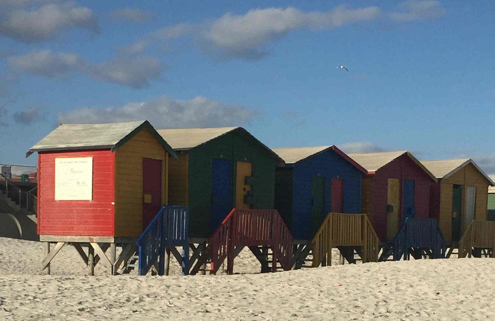 As famosas casas coloridas na praia de Muizenberg - Foto Arquivo pessoal