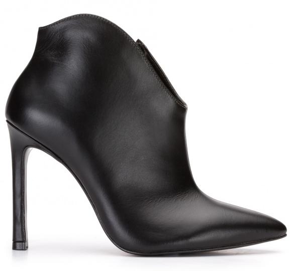 Ankle Boot Salto Fino Couro, R$ 269,90