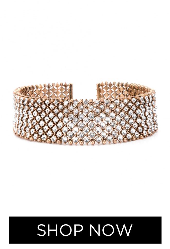 Choker Crystal Glam, R$ 59,90