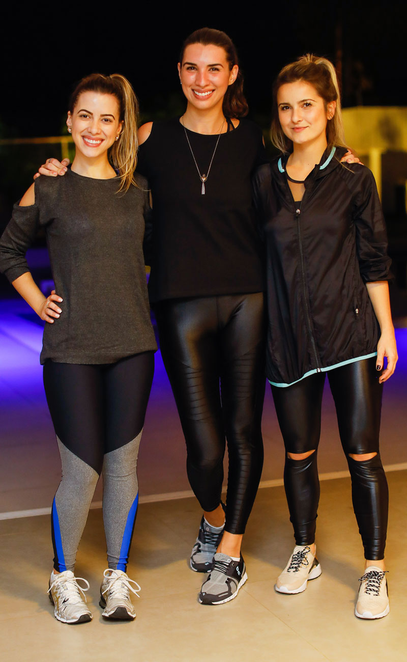 Camila Veloso, Lara Habka e Lucila Pena, todas de AMARO Active - Foto: Celso Junior