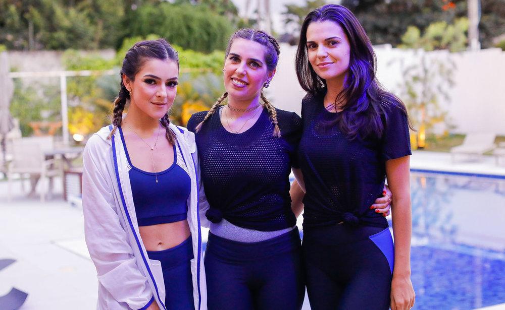 Luisa Peleja, Valéria Bittar e Bruna Salviero - Foto: Celso Junior