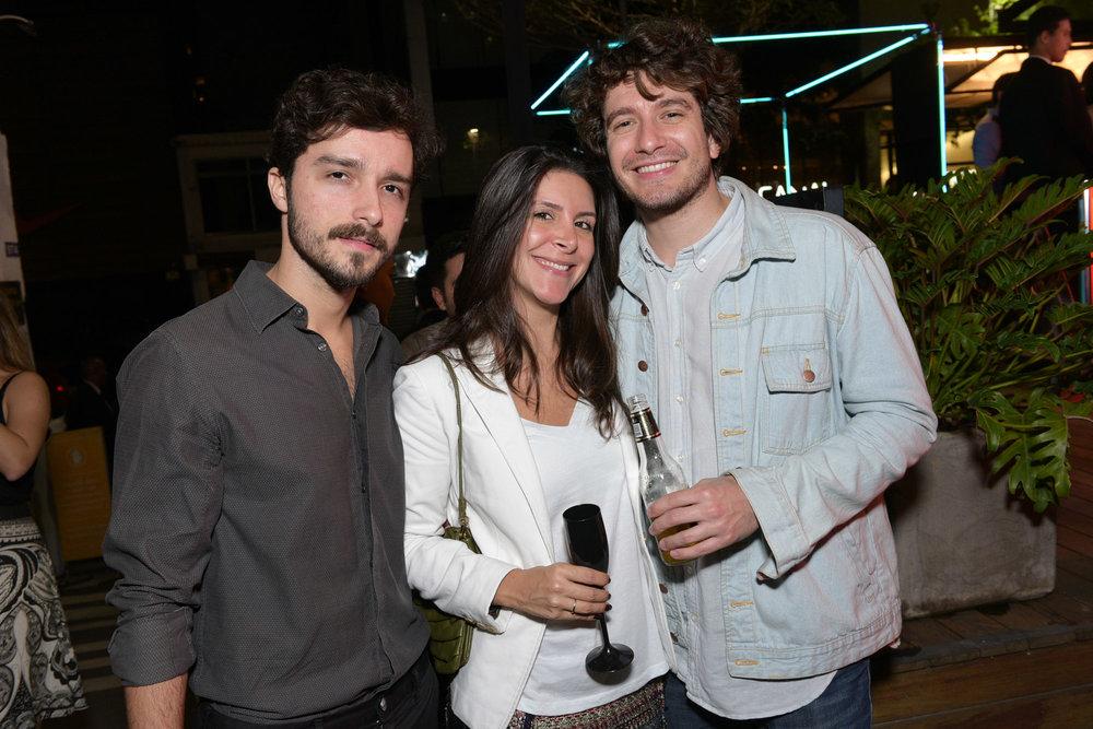 Filipe Bulhões, Carolina Marino e Bernardo Brugnara