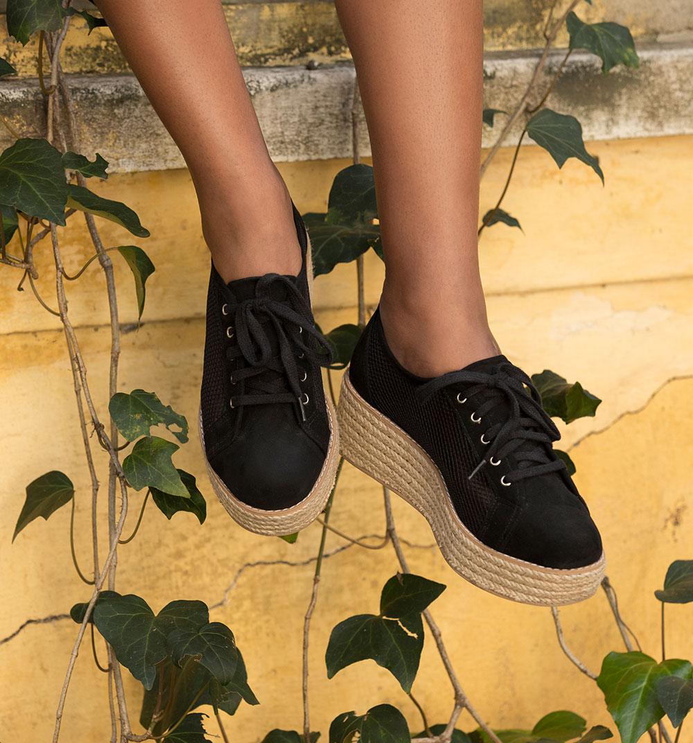 Sapato flatform escuro amaro