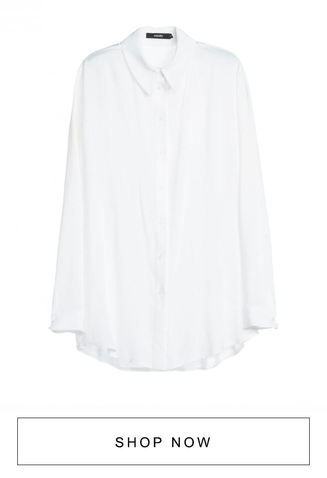 Camisa feminina branca AMARO
