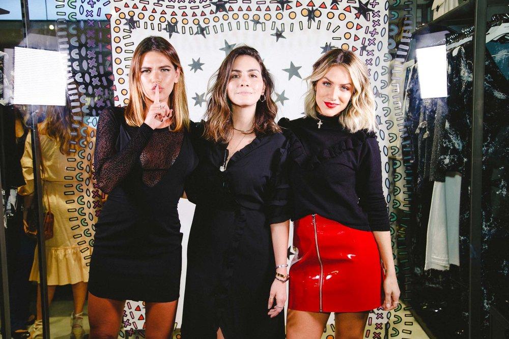 Mariana Goldfarb, Camila Assreuy e Giovanna Ewbank