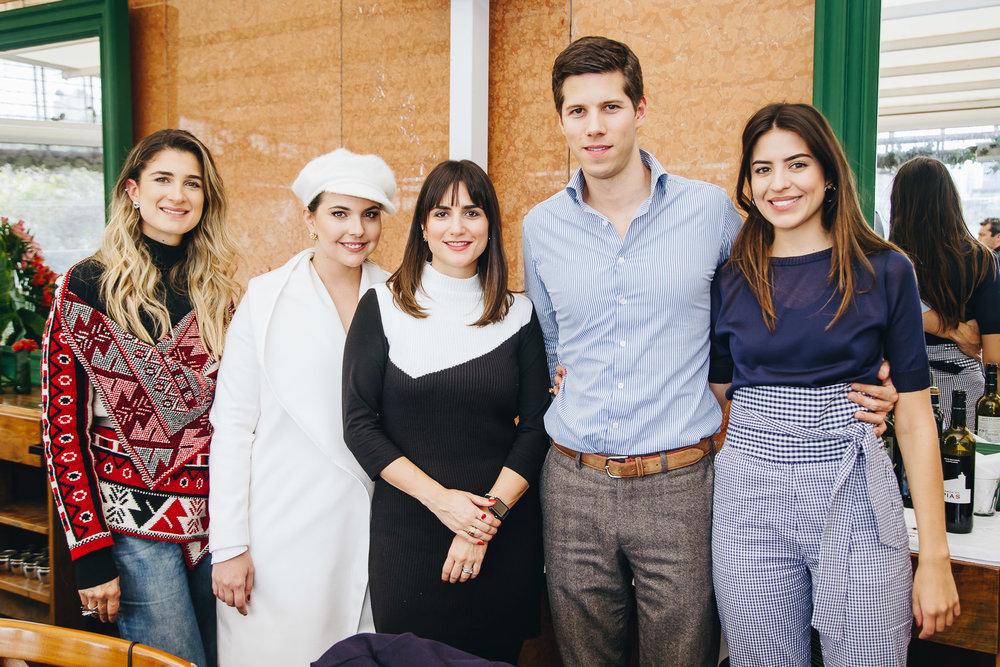 No almoço com a Vogue, Barbara Migliori, Vivian Sotocórno, Luiza Souza, Dominique Oliver e Amanda Cassou.