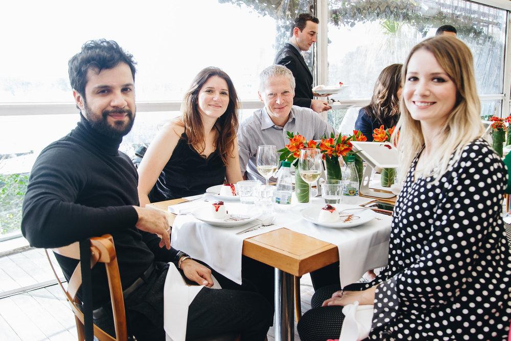 Raphael Miranda, Marina Calado, Jean Luc e Claudia Gasparetti.