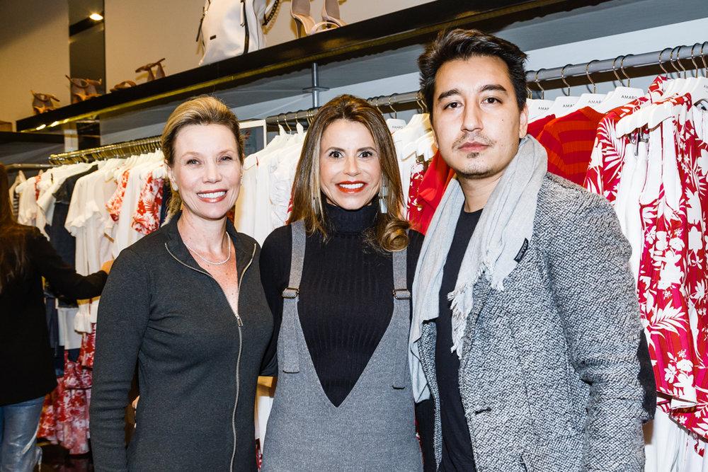 Simone Porate, Karla Petrelli e Marcus Yan