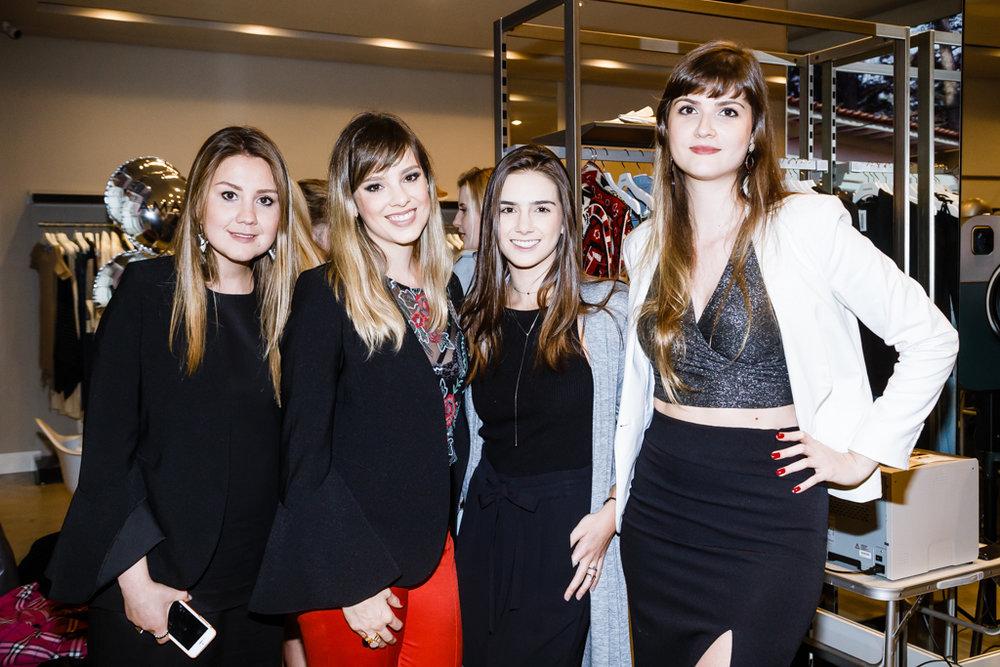 Mariana Smolka, Pati Bianco, Carolina Bianco e Júlia Campos