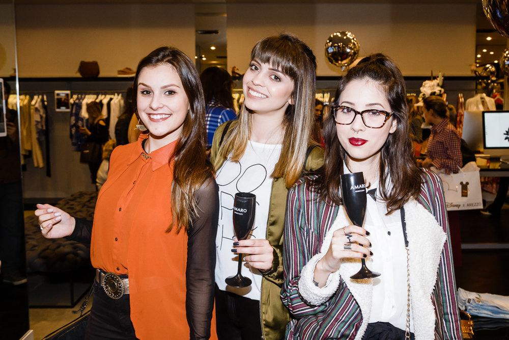 Gabriela Oneba, Bruna Sugamosto e Caroline Costa