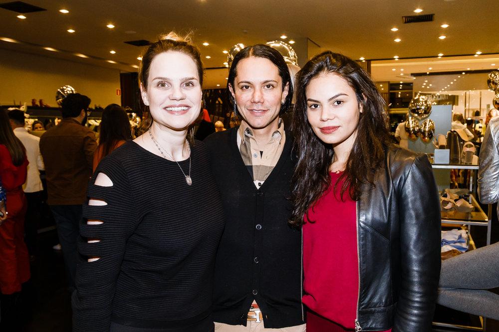 Gica Oliveira, Aron Degtiar e Andressa Suzane