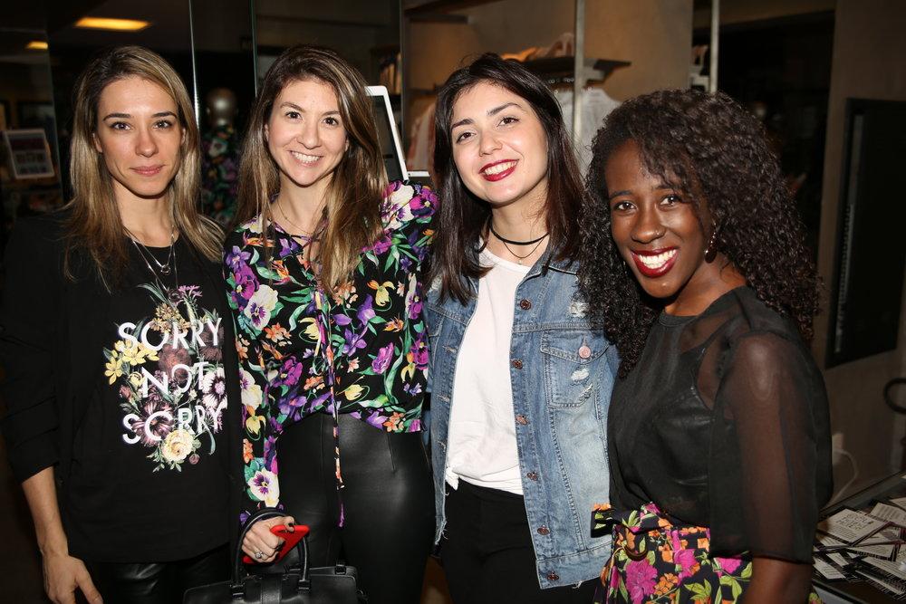 Milene Brunette, Juliana Zampini, Beatriz Peron e Andressa de Souza