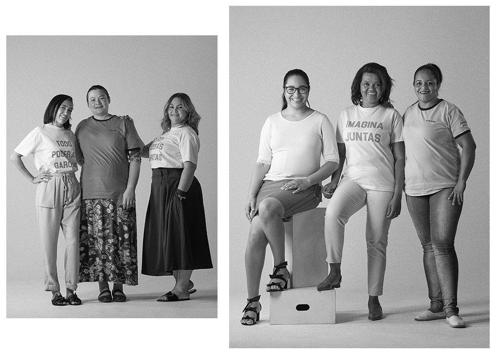 Da esquerda para a direita: Claudiene Rosa, Elisangela Correia, Viviane Martins, Lizandra Costa, Carmélia Figueredo e Iracema Rodrigues.