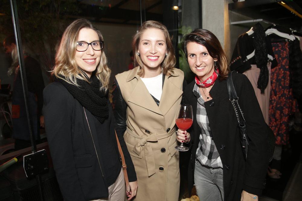 Luiza Bruscato, Sara Kulzer e Joice Rossi
