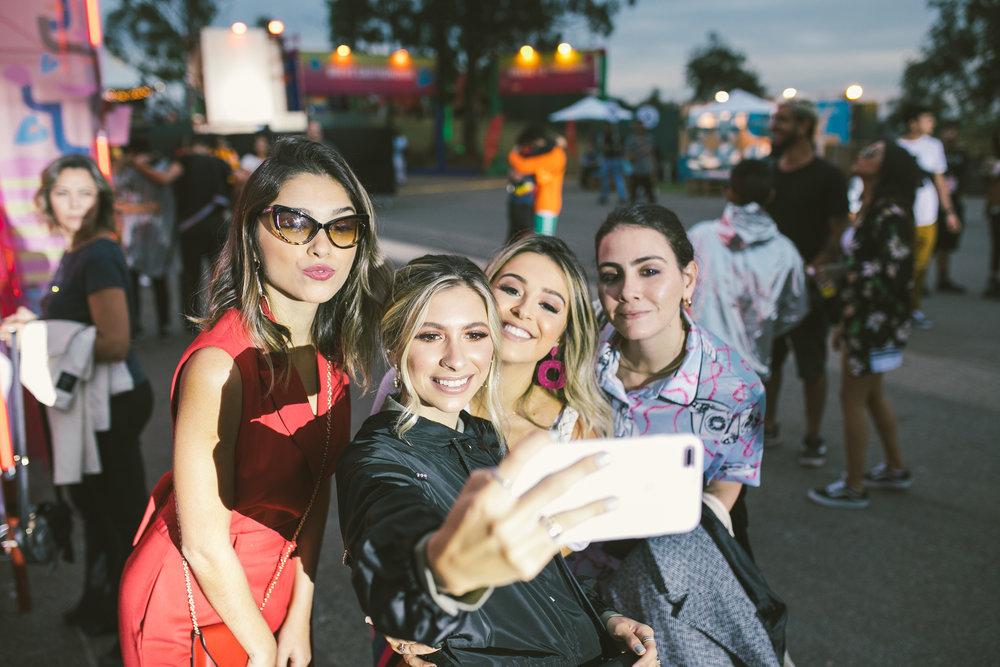 Momento selfie no Breve Festival