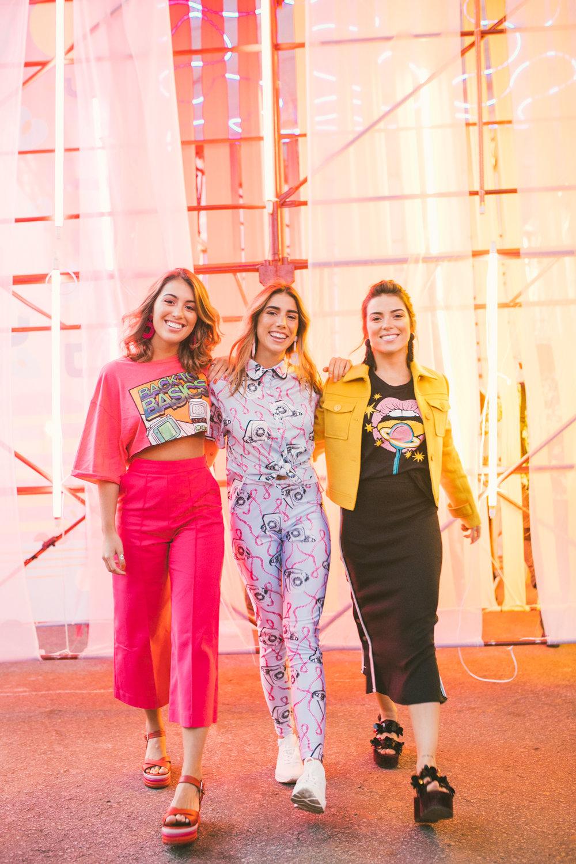 Valentine Brito, Clara Câmpara e Sofia Lopes