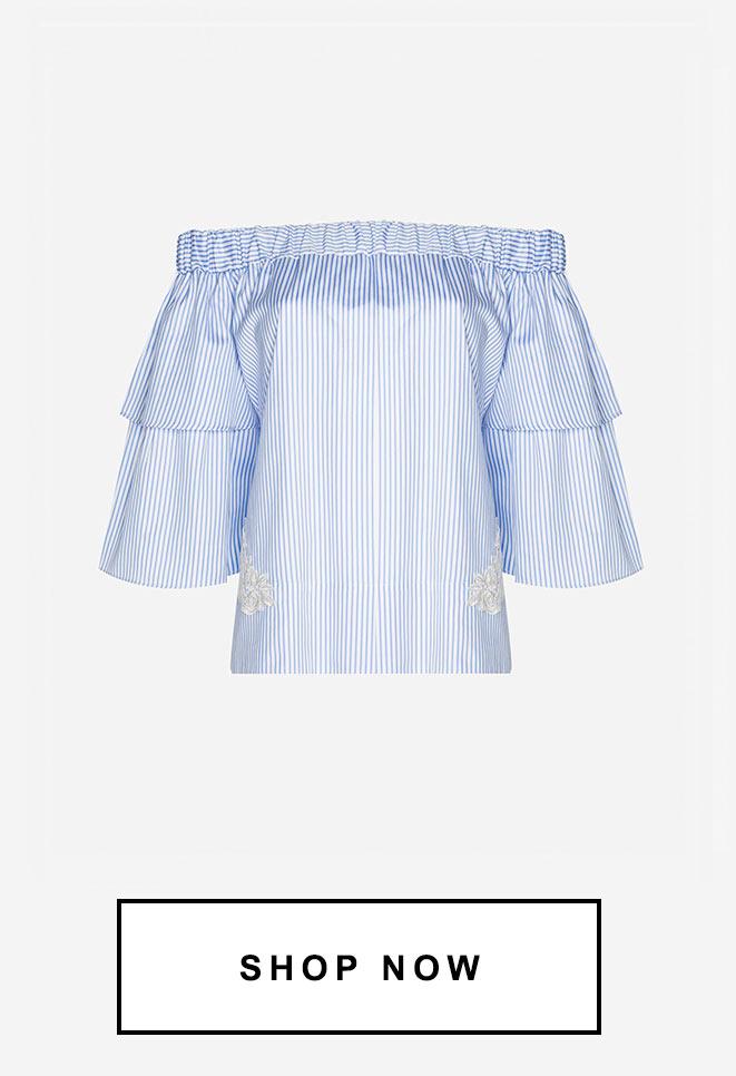 Blusa ombro a ombro | 71% OFF