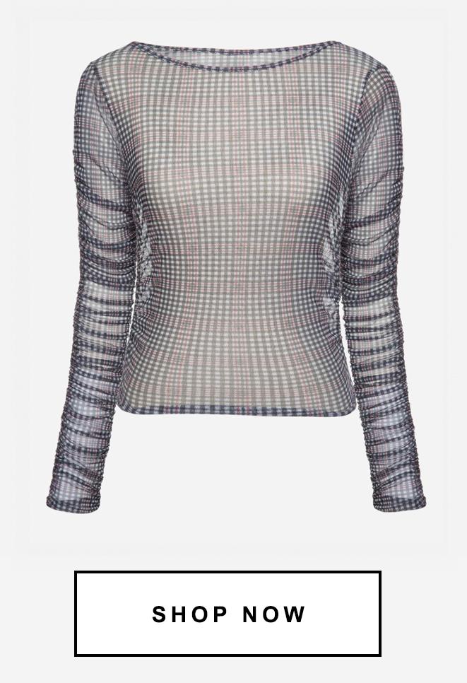 Blusa transparente | 50% OFF