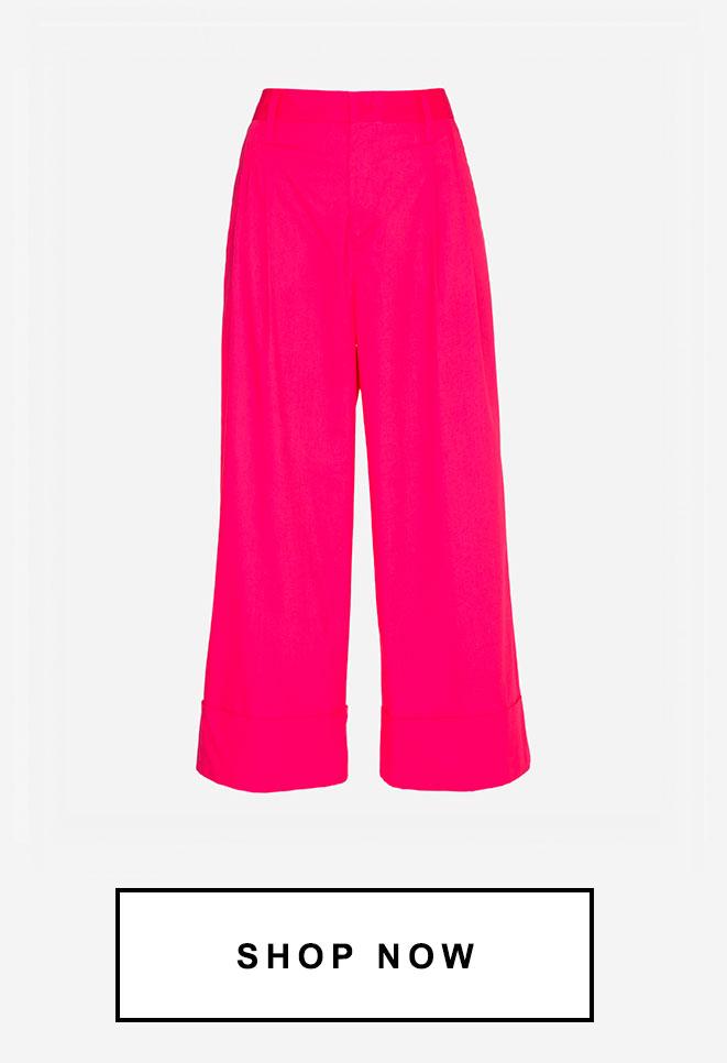 Calça pantalona pink | 50% OFF