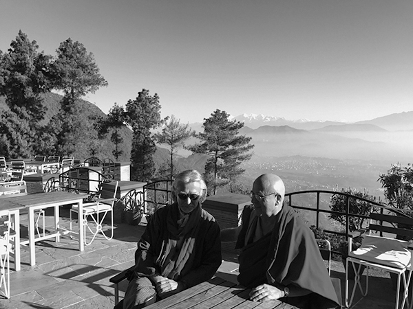 with Reverend Matthieu Ricard of Shechen Monestry in the Himalayas.