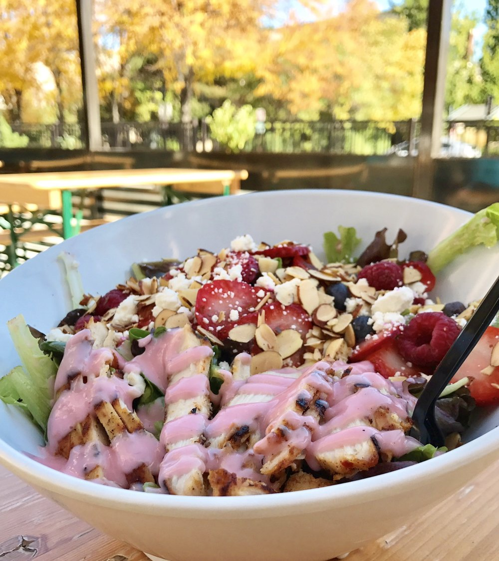 ^^mixed berry chicken salad^^