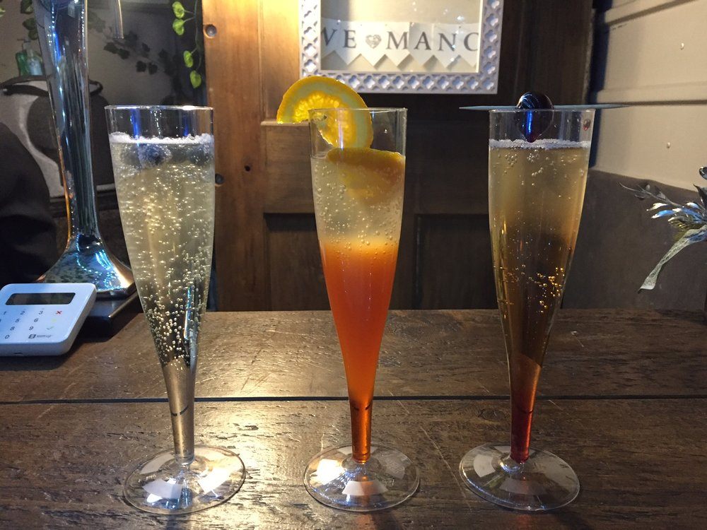 We named our cocktails after one of Manchester's favourite band. Prosecco Supernova, Fizz Forever, Definitely Fizzy. Can you think who it was?