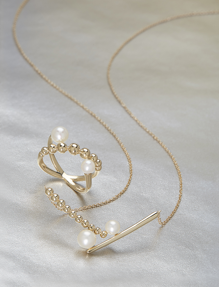 HONORA ICON  For legendary style and a contemporary aesthetic feast your eyes on  Honora Icon  - a delicate fusion which unites traditional pearl jewelry with geometric shapes and dainty Karat Gold.
