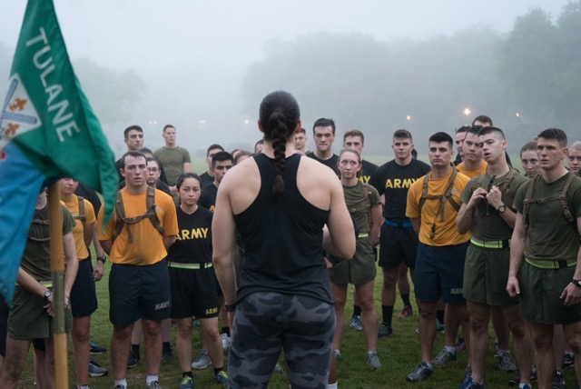 Tulane University - In March of 2018 Taylor served as a guest speaker for Tulane University's NROTC Unit. She provided a leadership seminar, physical training session, and a one hour sit down with the unit's physical training representative to evaluate their current methods and provide recommendations for improvement.
