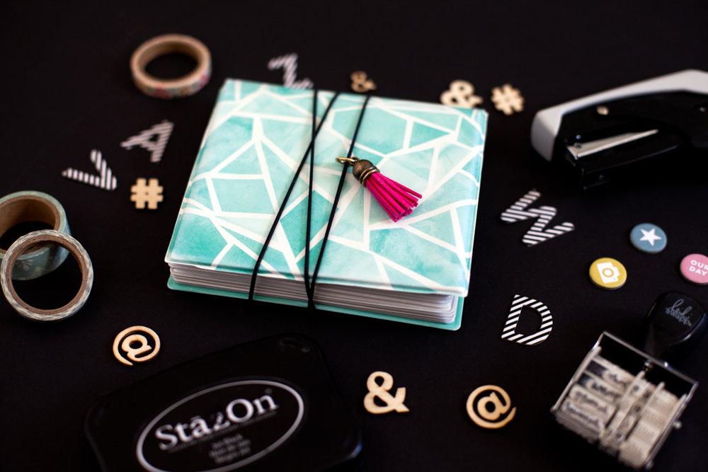 Details:  Heidi Swapp™ Instalove Mini Photo Album ,  Film Club Maya Road Tassels from Studio Calico