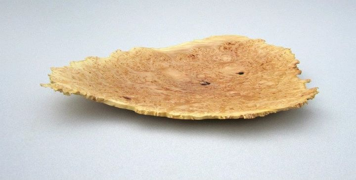 Maple burl platter