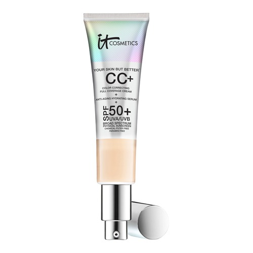 It Cosmetics CC cream - When I finally tried this I was so impressed with the coverage it offers and the natural yet flawless finish. I have been using it instead of foundation since it doesn't clog pores and is so easy to apply, I just use my fingers.