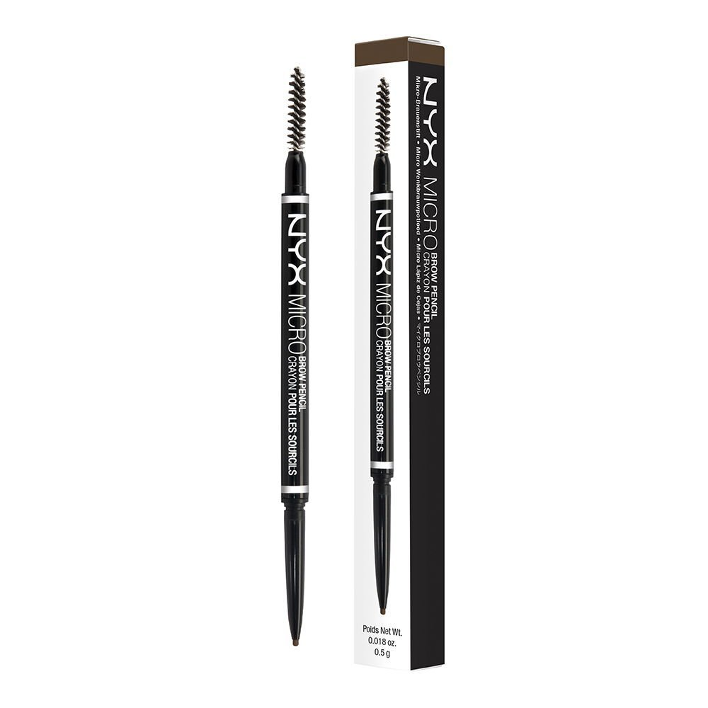 NYX Micro brow pencil - This is by far the best brow pencil for the price! One end is a small twist up pencil for precise brow sketching and one end is a brush so you can create a natural look. My favorite color is ash brown which works on a lot of people.