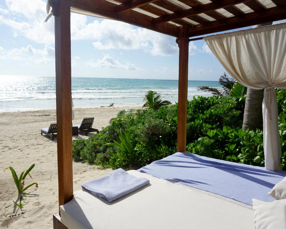 Beach Cabanas at Casa Catarena