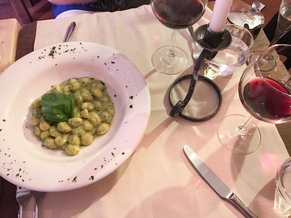 Pesto Gnocchi at I'l Paiolo