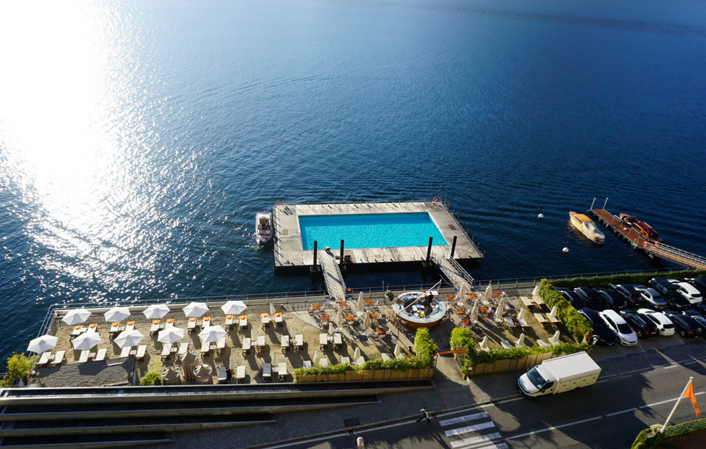 Beach and Floating Pool at The Grand Tremezzo
